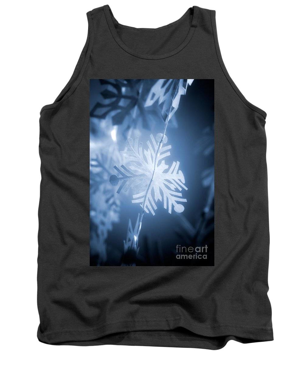 Abstract Tank Top featuring the photograph Paper Snowflake by Kati Finell