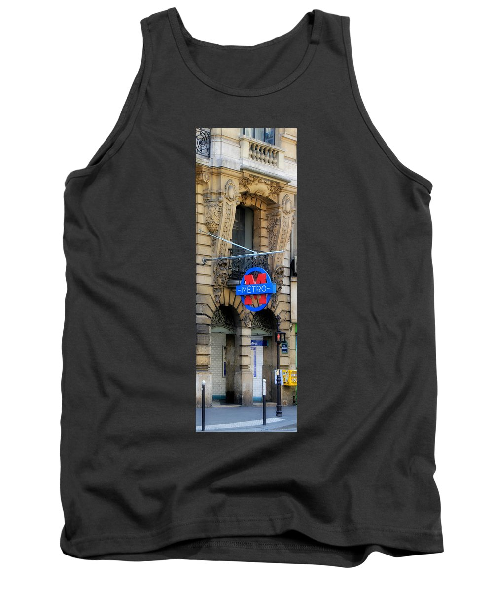 Paris Tank Top featuring the photograph Paris Metro 5 by Andrew Fare