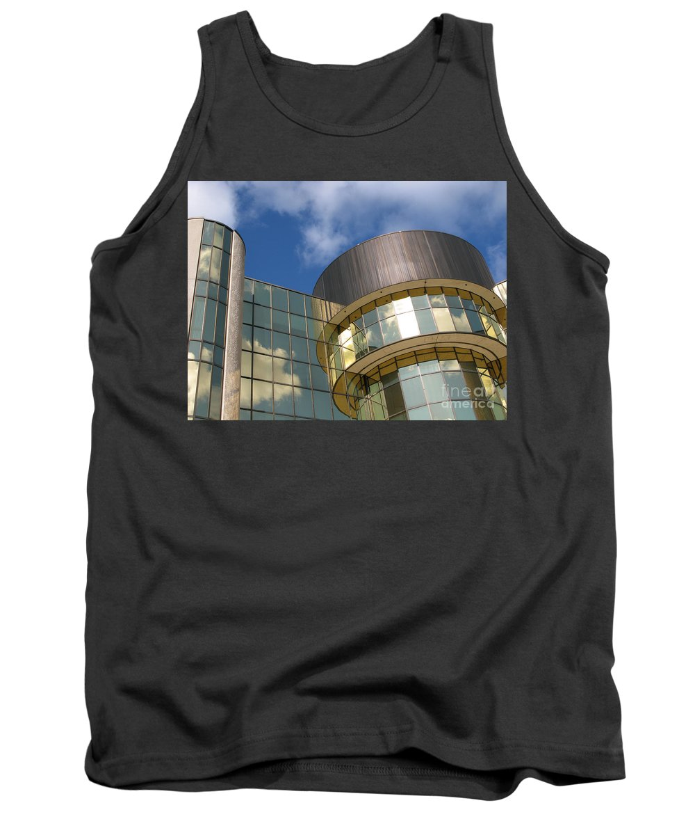 Clouds Tank Top featuring the photograph Partly Cloudy by Ann Horn
