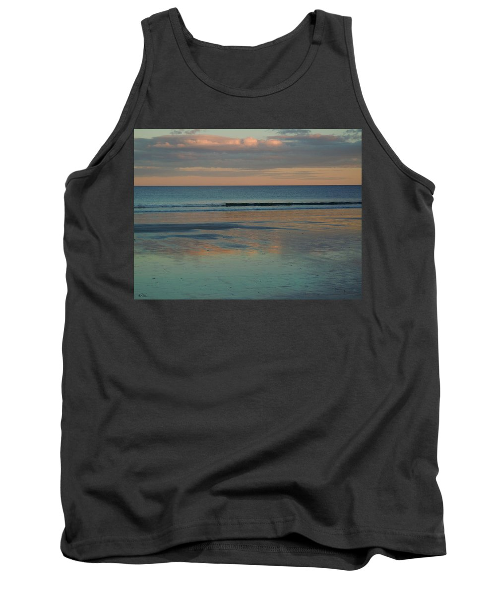 Beach Tank Top featuring the photograph Pastel Reflections On The Coast by Nancy Griswold