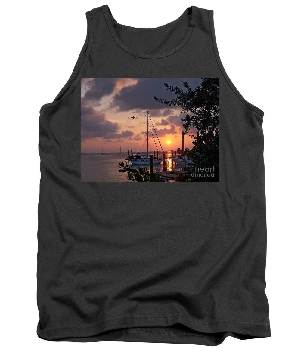 Romantic Tank Top featuring the photograph Peaceful Caribbean Sunset by Greg Hammond