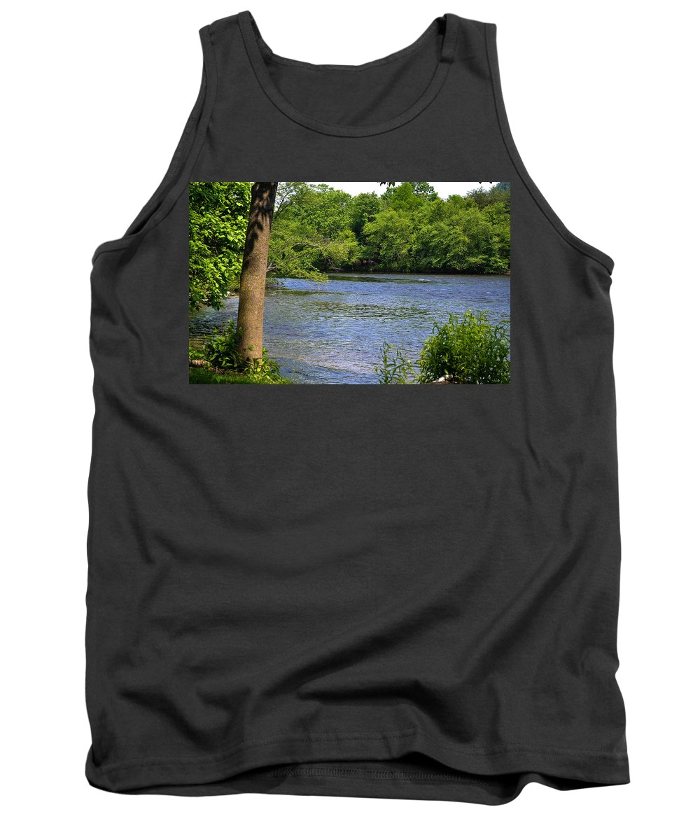 River Tank Top featuring the photograph Peaceful River by Wanda J King