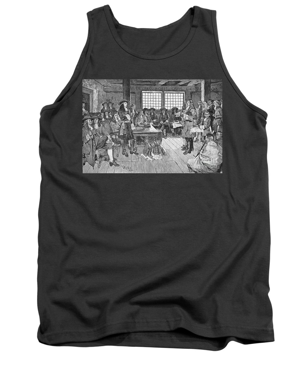 1682 Tank Top featuring the photograph Penn And Colonists, 1682 by Granger