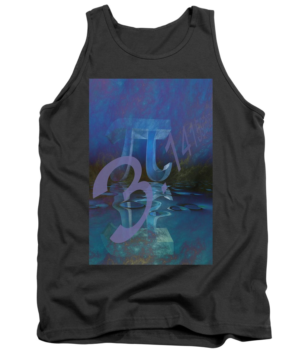 Abstract Tank Top featuring the digital art Pi by Carol and Mike Werner