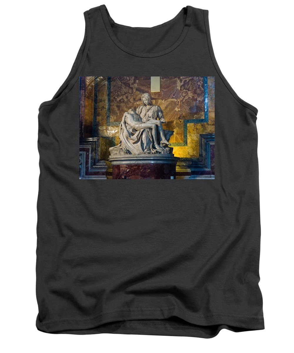 Pieta Tank Top featuring the photograph Pieta By Michelangelo Circa 1499 Ad by Jon Berghoff