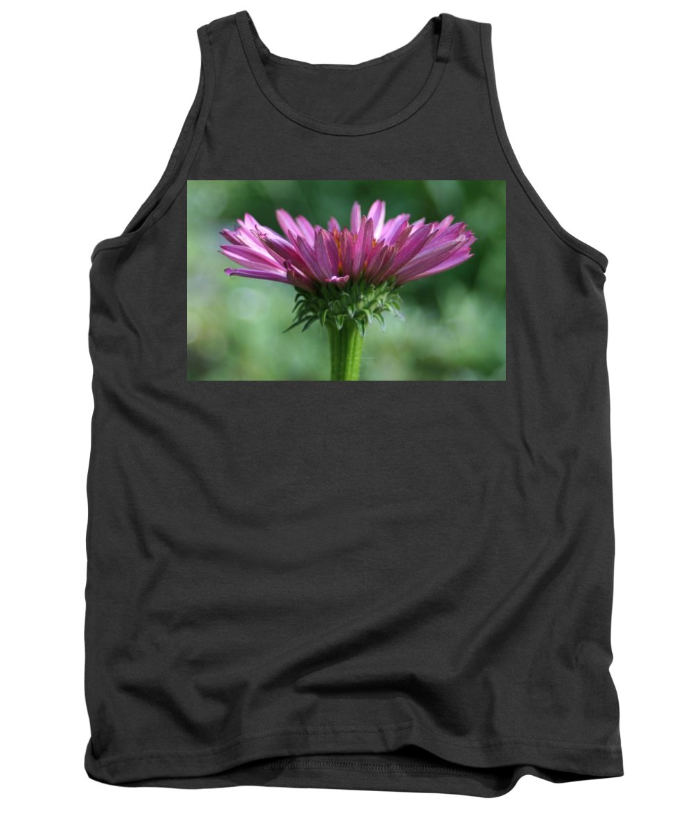 Flower Tank Top featuring the photograph Pink Cone Flower by Barbara S Nickerson