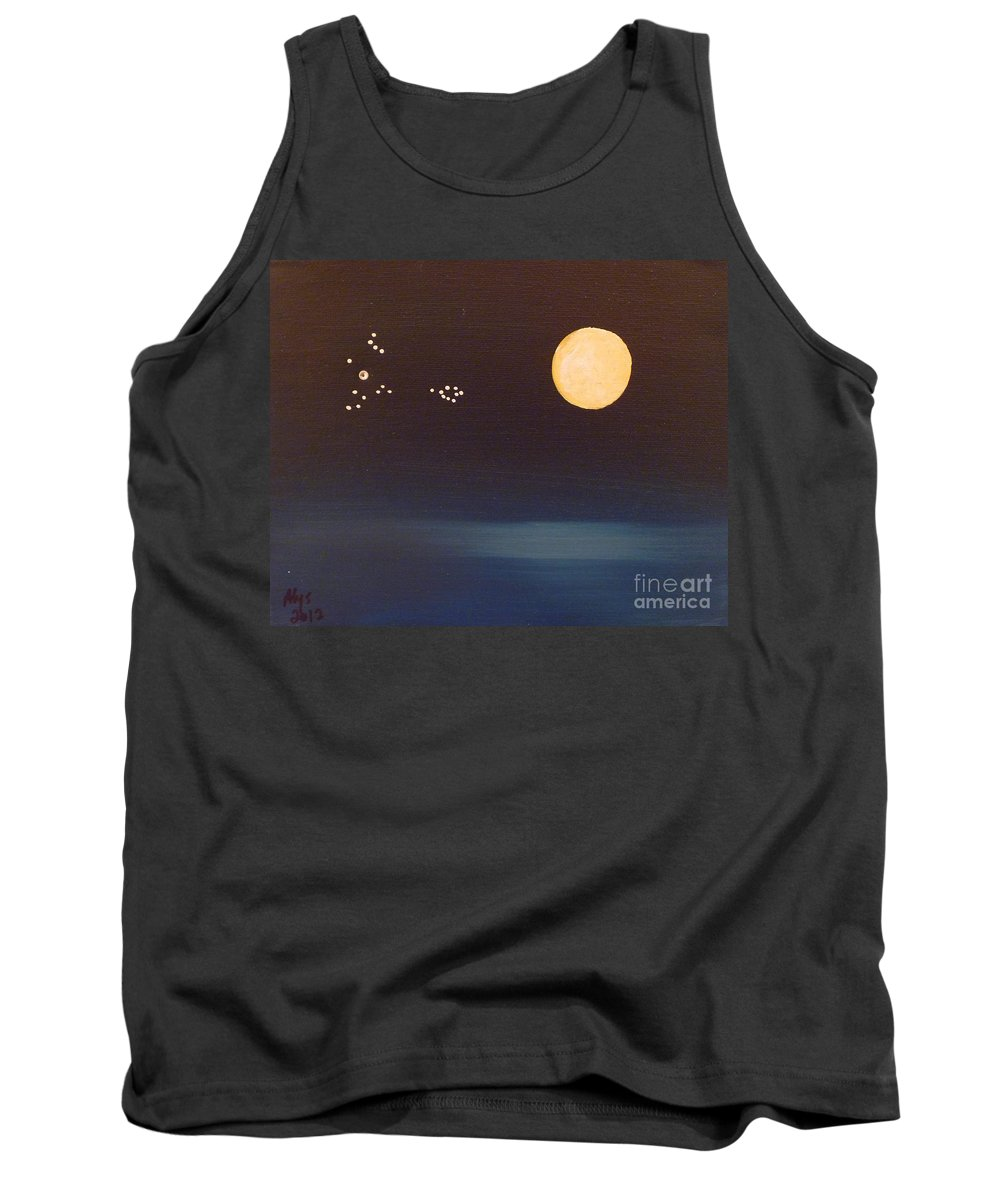 Pisces Tank Top featuring the painting Pisces by Alys Caviness-Gober