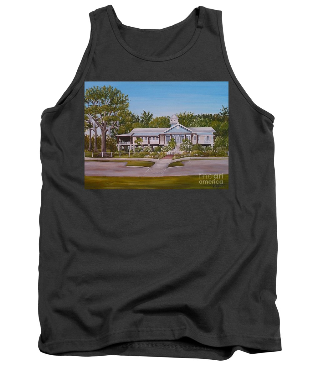 Louisiana Tank Top featuring the painting Pontchartrain Yacht Club by Valerie Carpenter