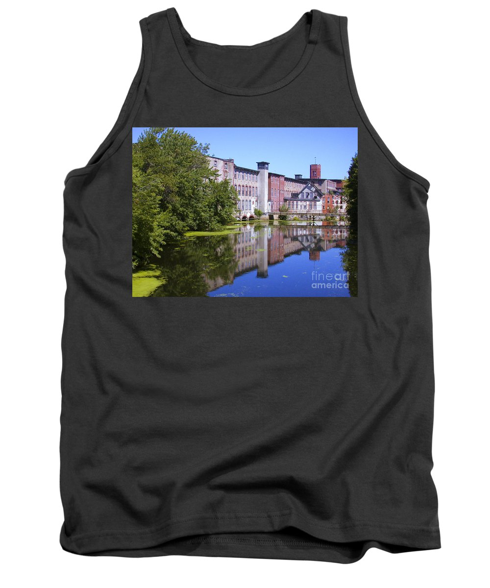 Warwick Tank Top featuring the photograph Pontiac Mills Overall 1 by Tim Mulina