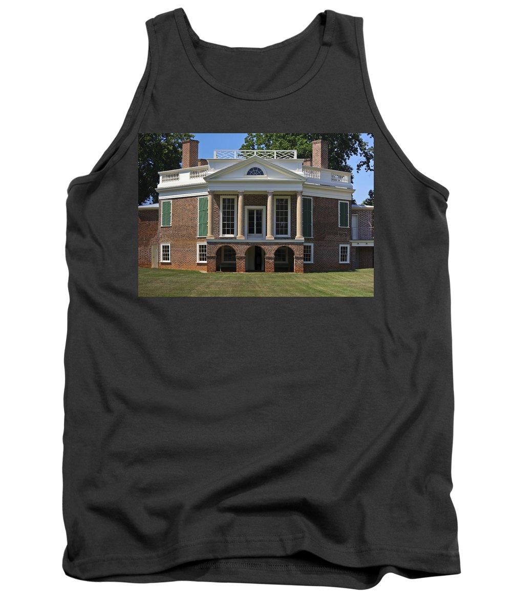 Poplar Forest Tank Top featuring the photograph Poplar Forest From The South Lawn by Teresa Mucha