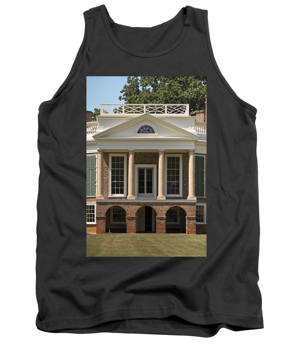 Poplar Forest Tank Top featuring the photograph Poplar Forest South Portico by Teresa Mucha