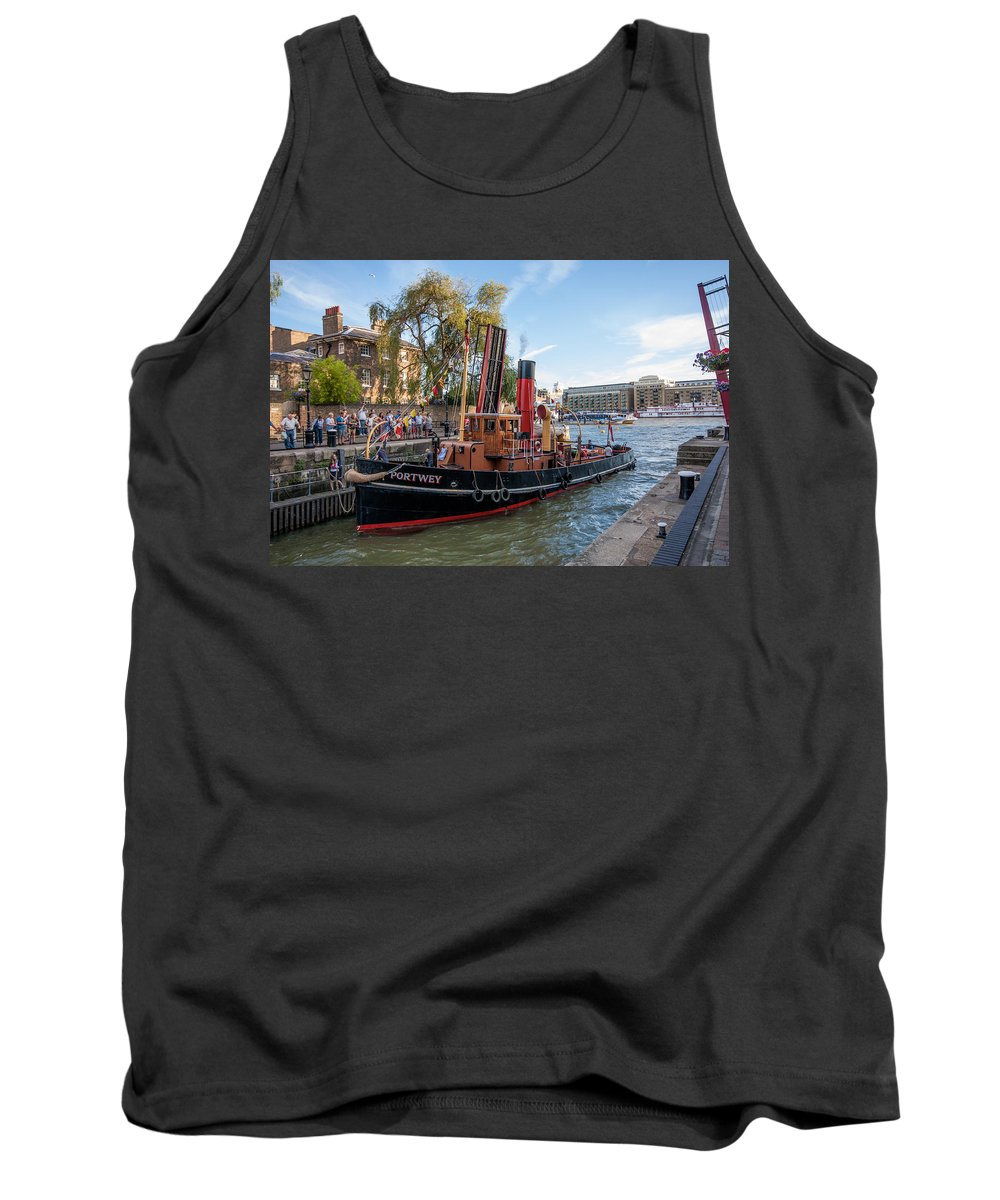 Portwey Tank Top featuring the photograph Portwey Tug by Dawn OConnor