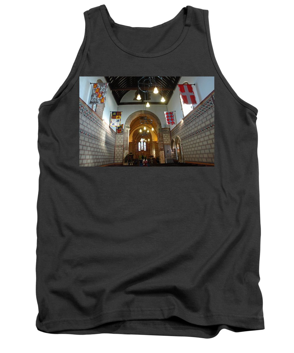 England Tank Top featuring the photograph Praying At The St Mary Church Inside Dover Castle In England by Ashish Agarwal