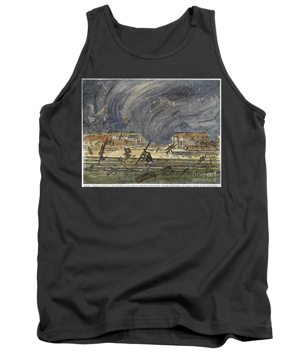 1887 Tank Top featuring the photograph Kansas Cyclone, 1887 by Granger