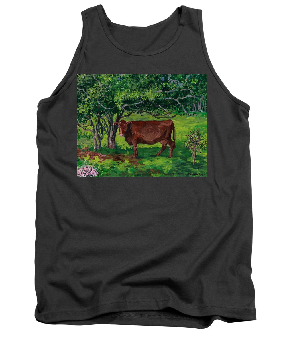 Nature Tank Top featuring the painting Pretty In Green by Patty Fleckenstein