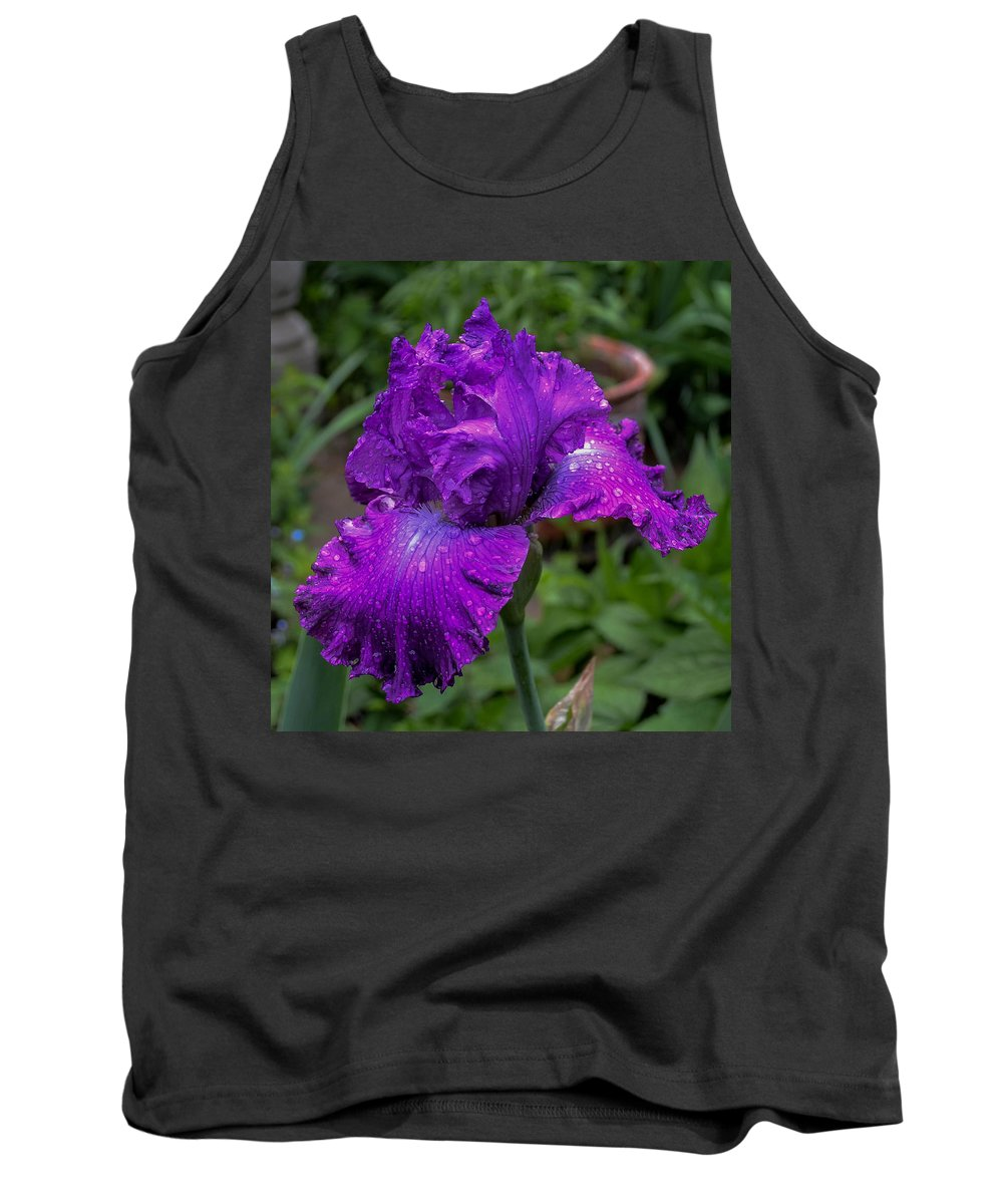 Flowers Tank Top featuring the photograph Purple Iris by Wanda J King