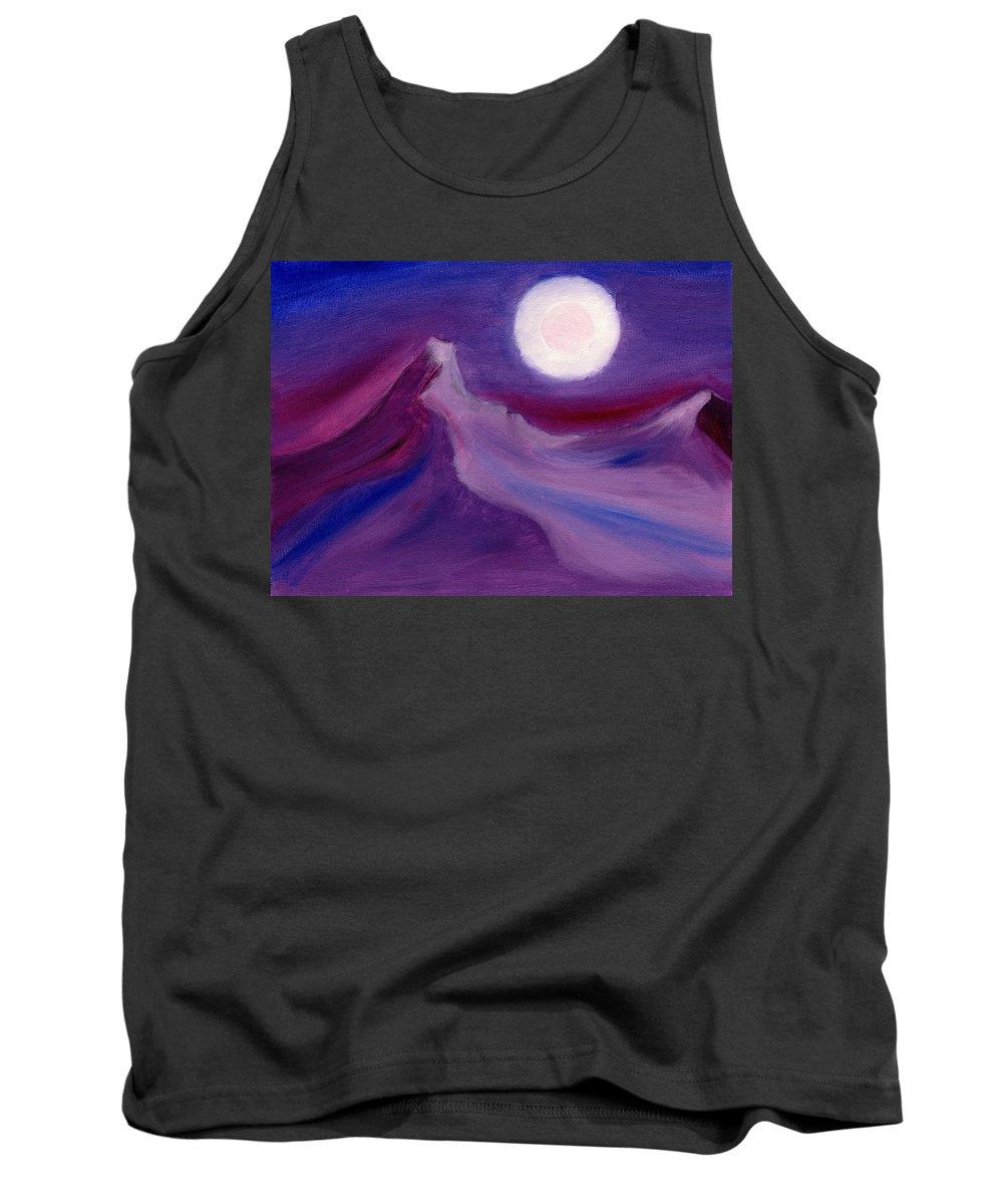 Landscape Tank Top featuring the painting Purple Night 2 by Hakon Soreide