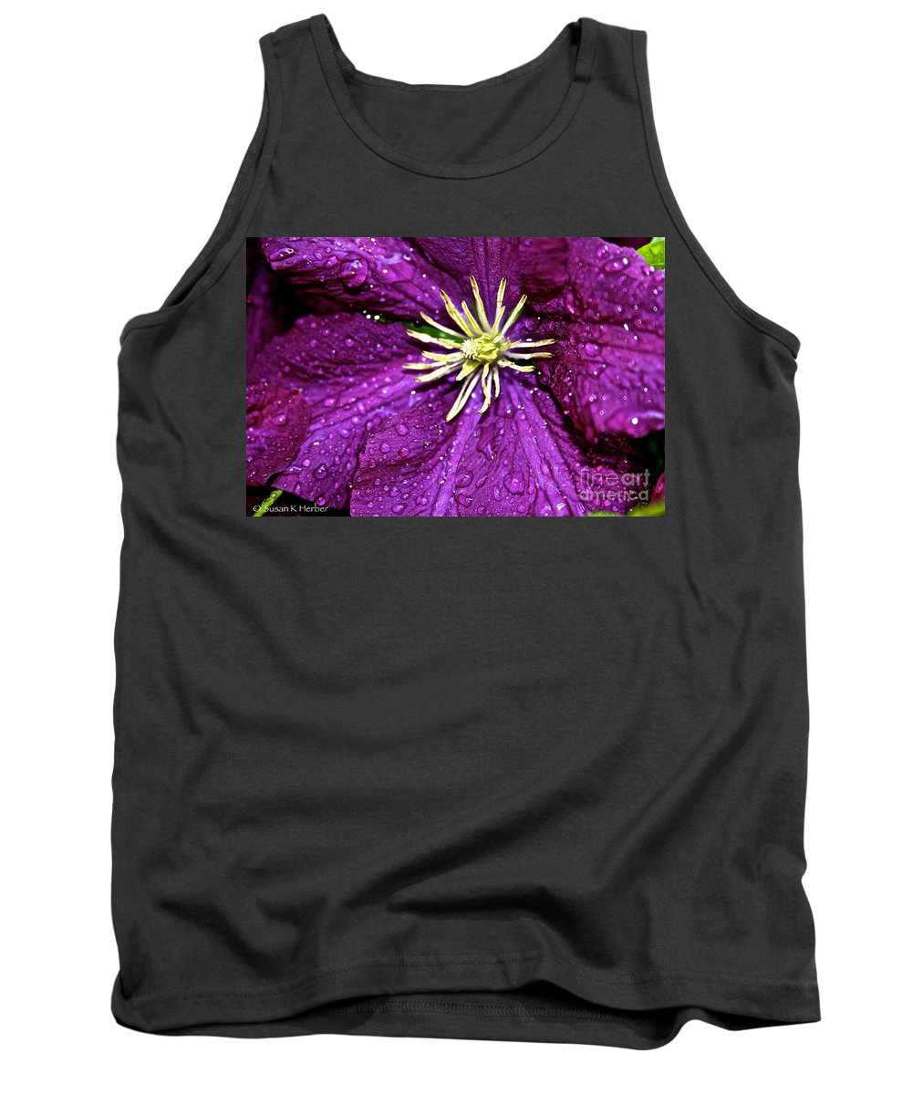 Outdoors Tank Top featuring the photograph Purple Rain by Susan Herber