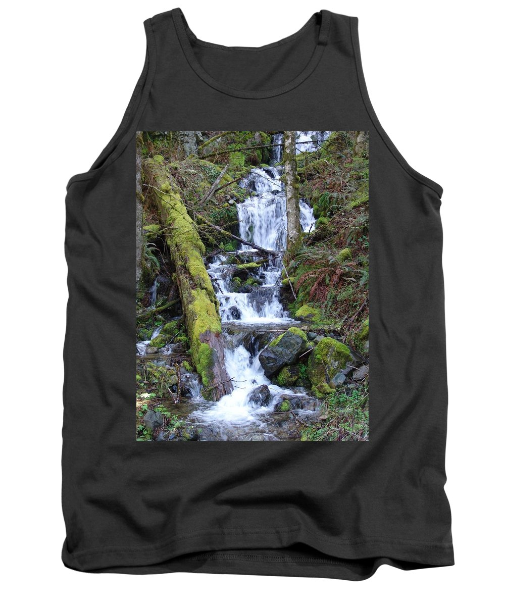 Waterfall Tank Top featuring the photograph Rainforest Waterfall by Ian Mcadie