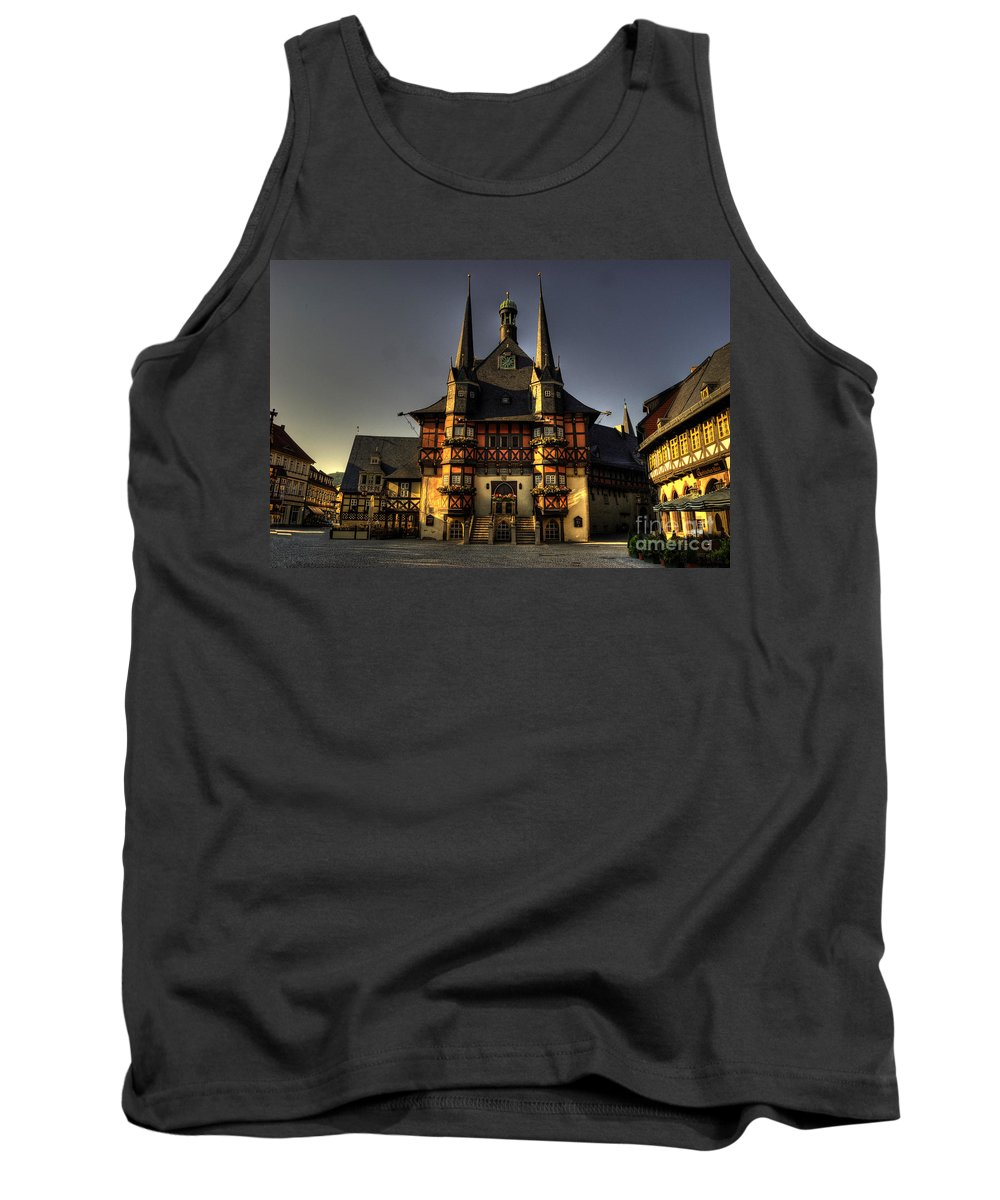 Wernigerode Tank Top featuring the photograph Rathaus At Wernigerode by Rob Hawkins