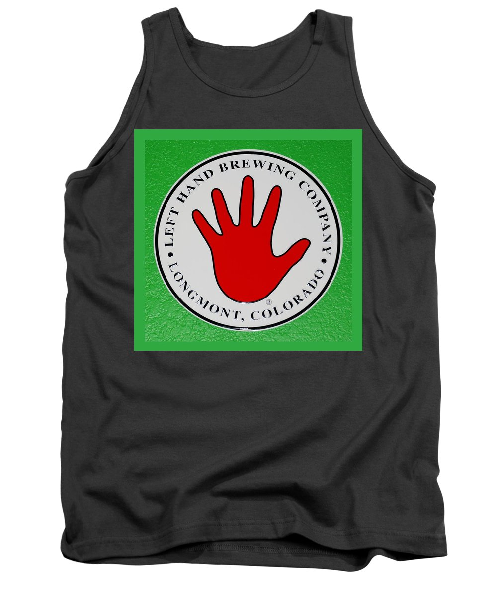 Red Tank Top featuring the photograph Red Left Hand by Rob Hans