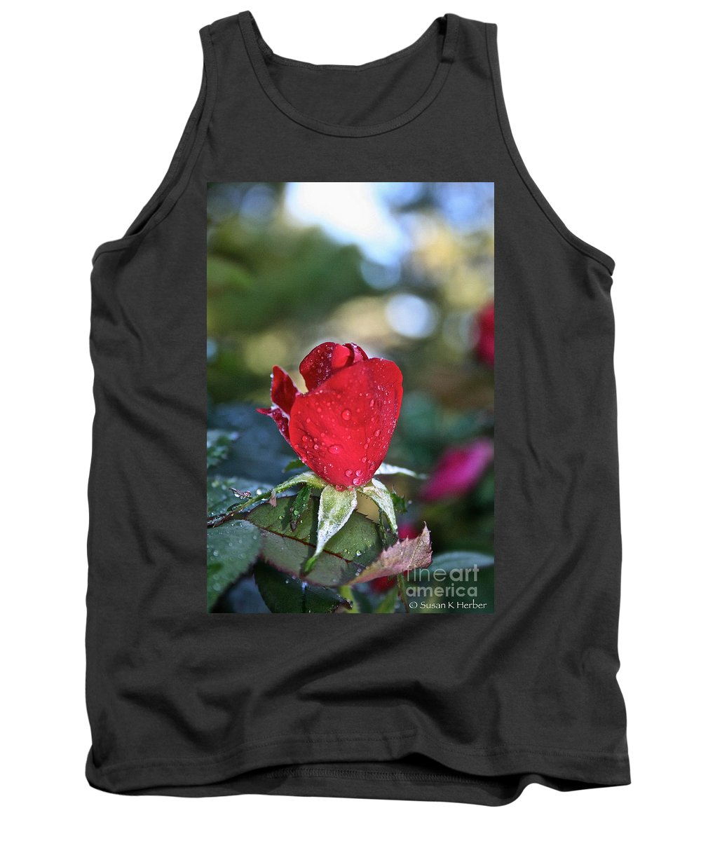 Landscape Tank Top featuring the photograph Red Saturated by Susan Herber