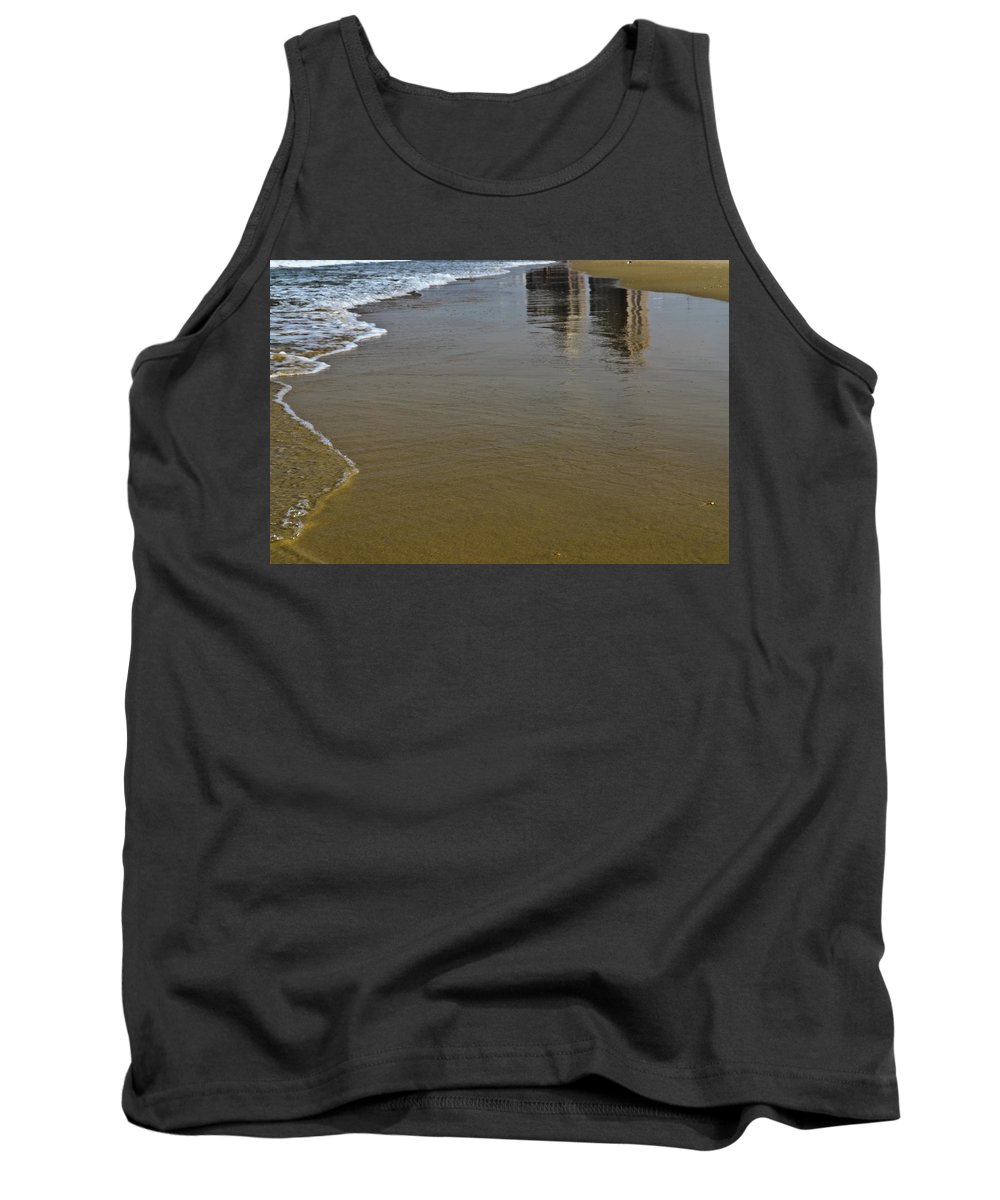Reflection Tank Top featuring the photograph Reflection In The Sand by Michael Goyberg