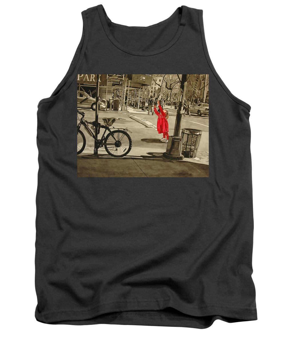 Children Tank Top featuring the painting Response by Valerie Patterson