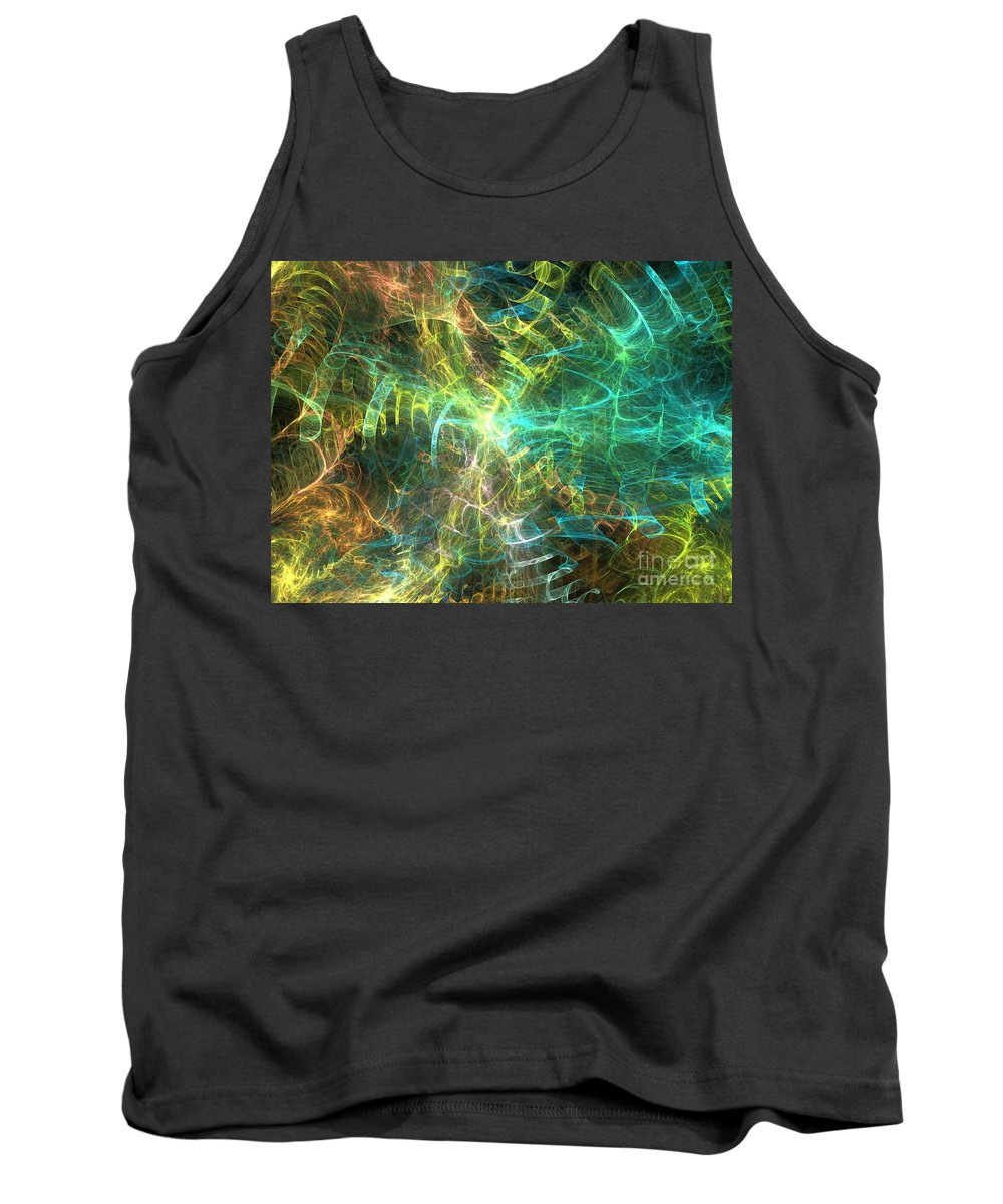 Apophysis Tank Top featuring the digital art Rigel by Kim Sy Ok