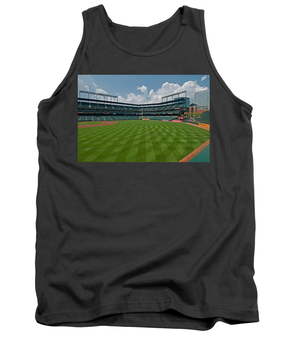 Oriole Park Tank Top featuring the photograph Right To Left At Oriole Park by Paul Mangold