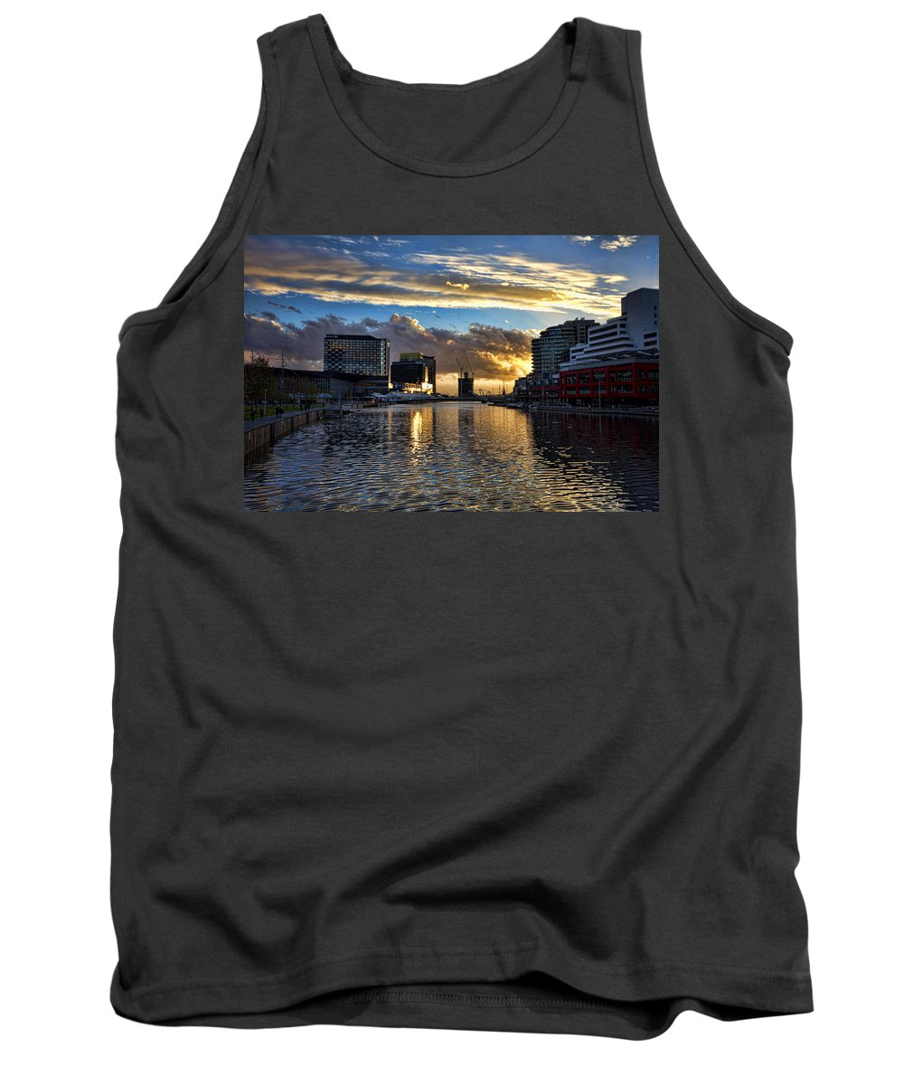 Rippled Tank Top featuring the photograph Rippled Waters by Douglas Barnard