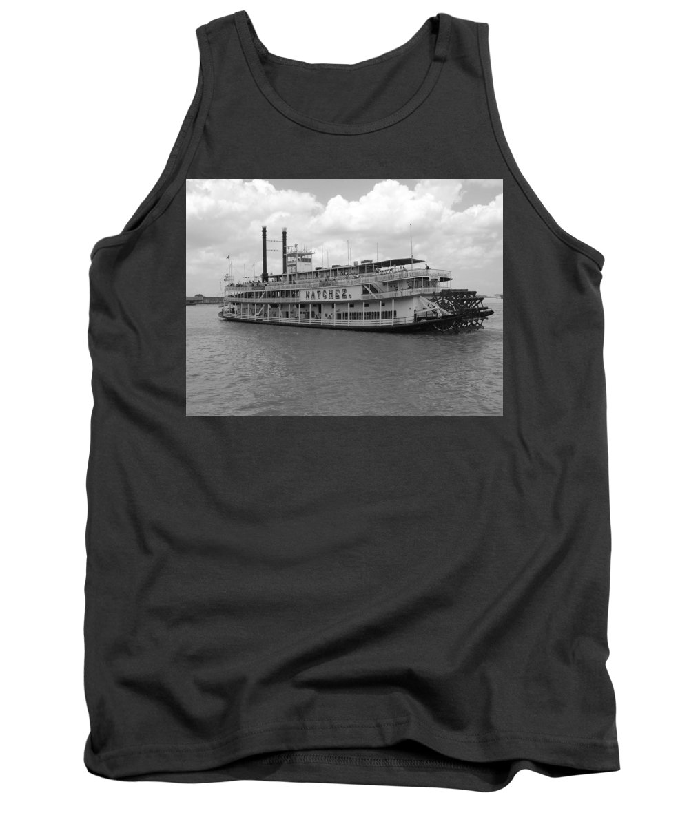 New Orleans Tank Top featuring the photograph River Boat Queen by Michael MacGregor