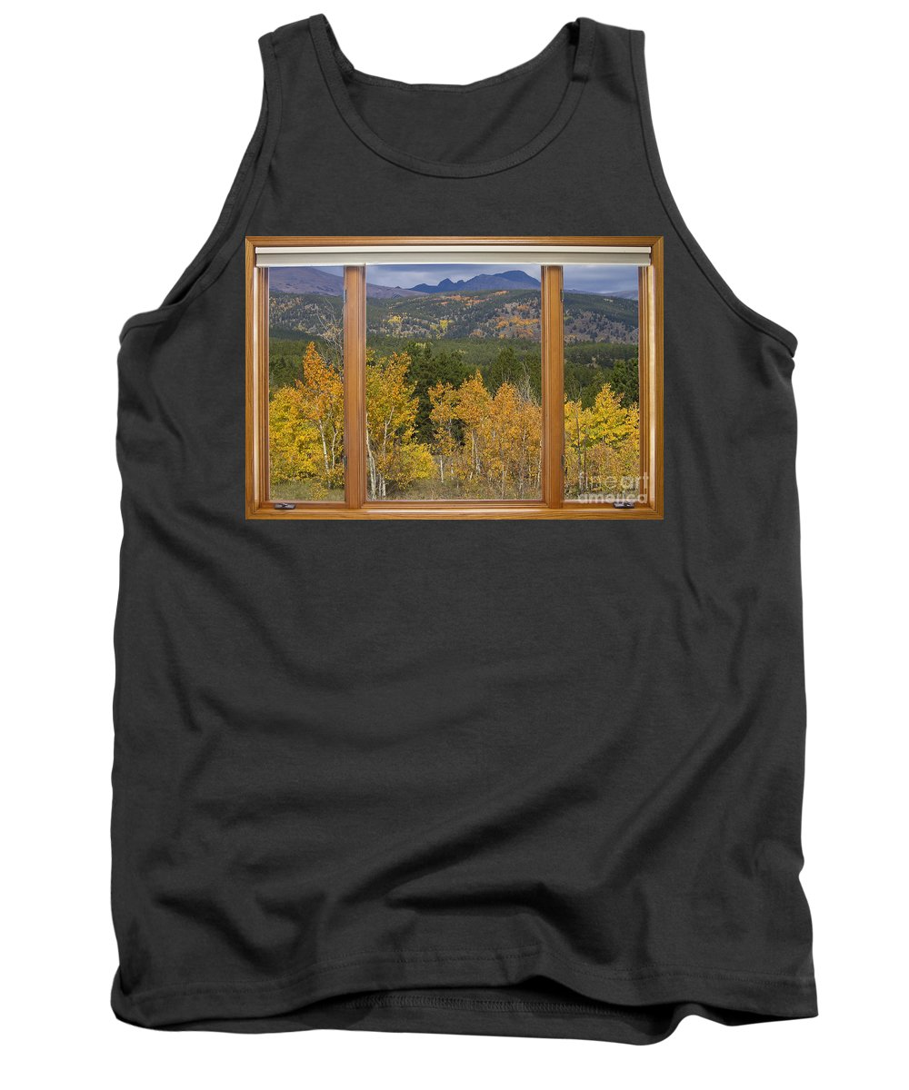 Windows Tank Top featuring the photograph Rocky Mountain Autumn Picture Window Scenic View by James BO Insogna