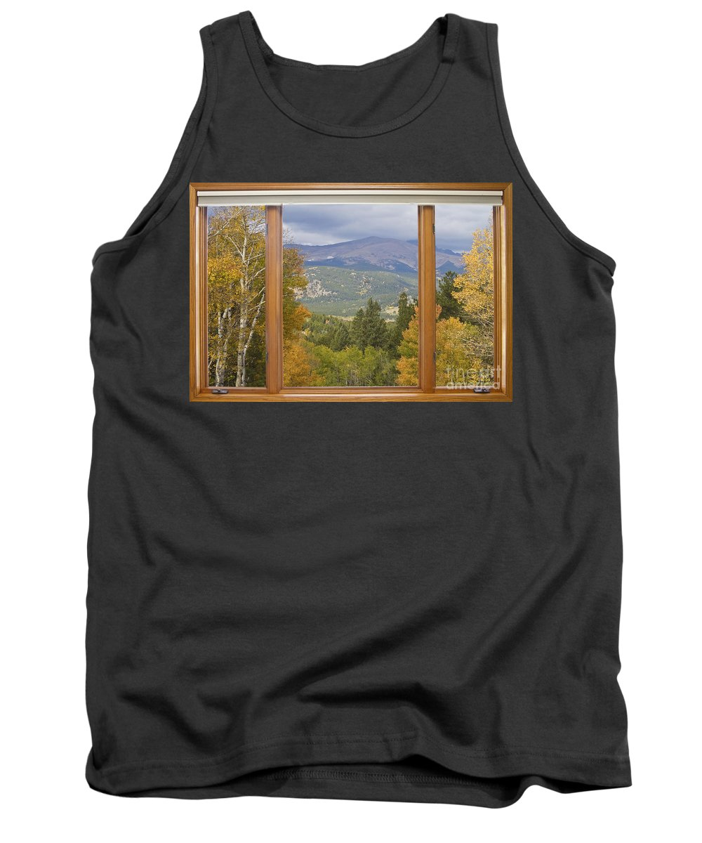 Windows Tank Top featuring the photograph Rocky Mountain Picture Window Scenic View by James BO Insogna