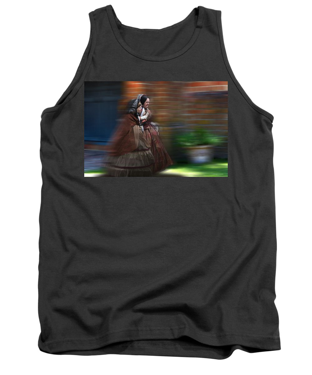 Victorian Tank Top featuring the photograph Running Late by Ron Jones