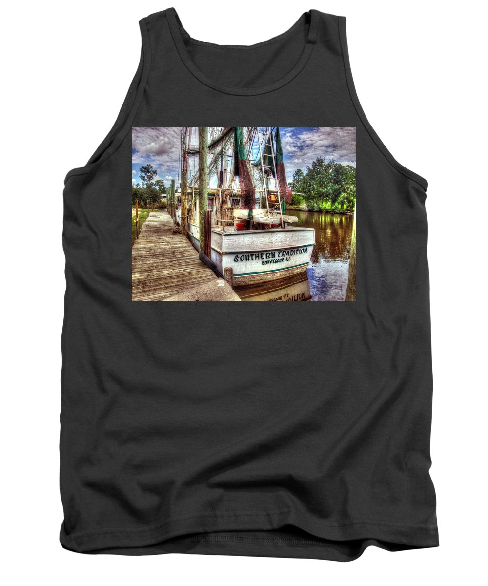 Alabama Photographer Tank Top featuring the digital art Safe Harbor Southern Tradition by Michael Thomas