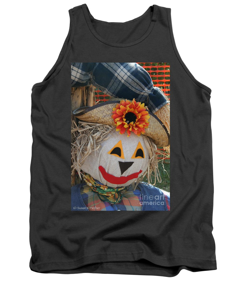 Outdoors Tank Top featuring the photograph Scarecrow Annie by Susan Herber