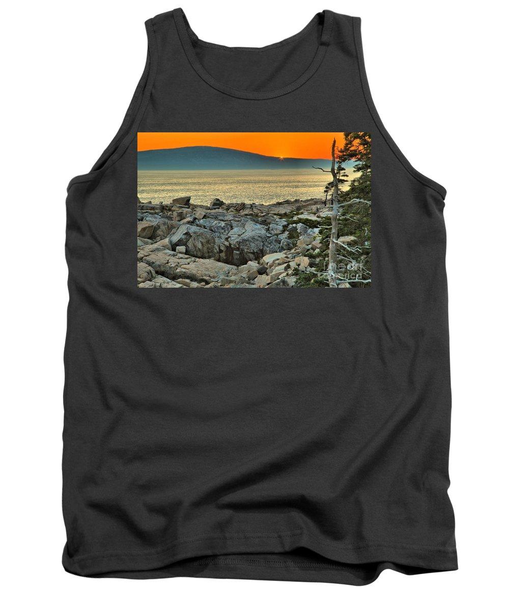 Schoodic Peninsula Tank Top featuring the photograph Schoodic Sunset by Adam Jewell