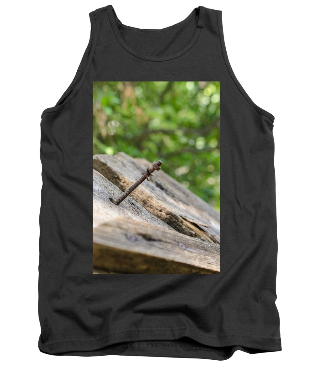 Screw Tank Top featuring the photograph Screwed by Debbie Karnes