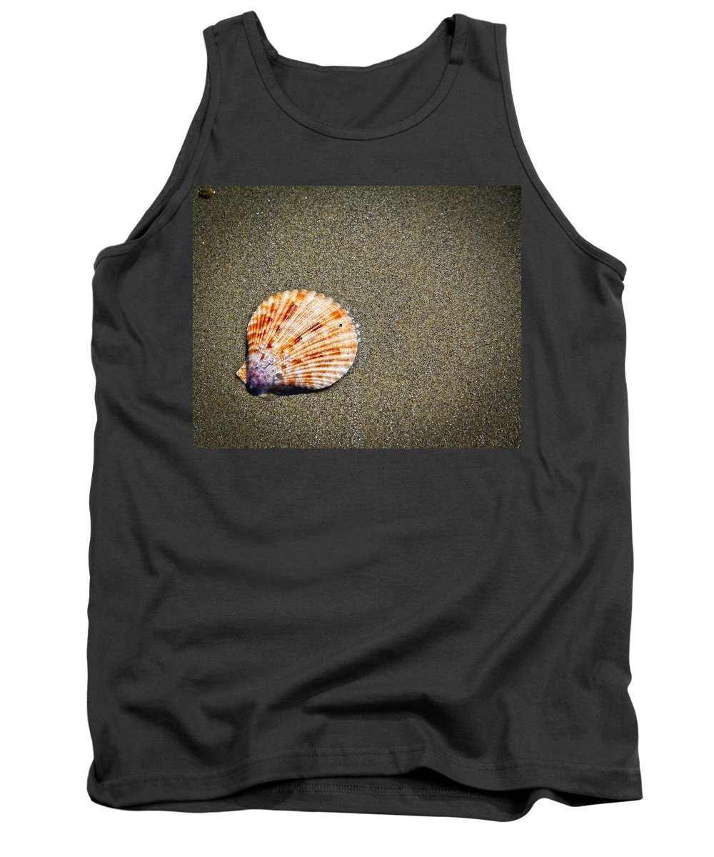 Sand Tank Top featuring the photograph Sea Shell by Steve McKinzie