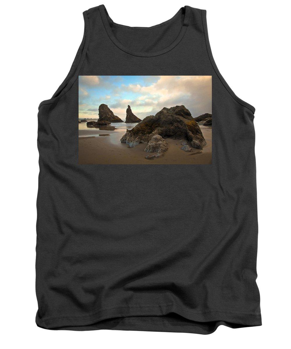 Beach Tank Top featuring the photograph Seal Rock Oregon by Steve McKinzie