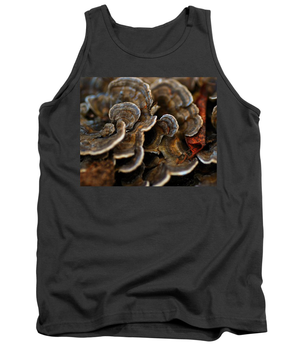 Mushrooms Tank Top featuring the photograph Shrooms Abstracted by Susan Capuano