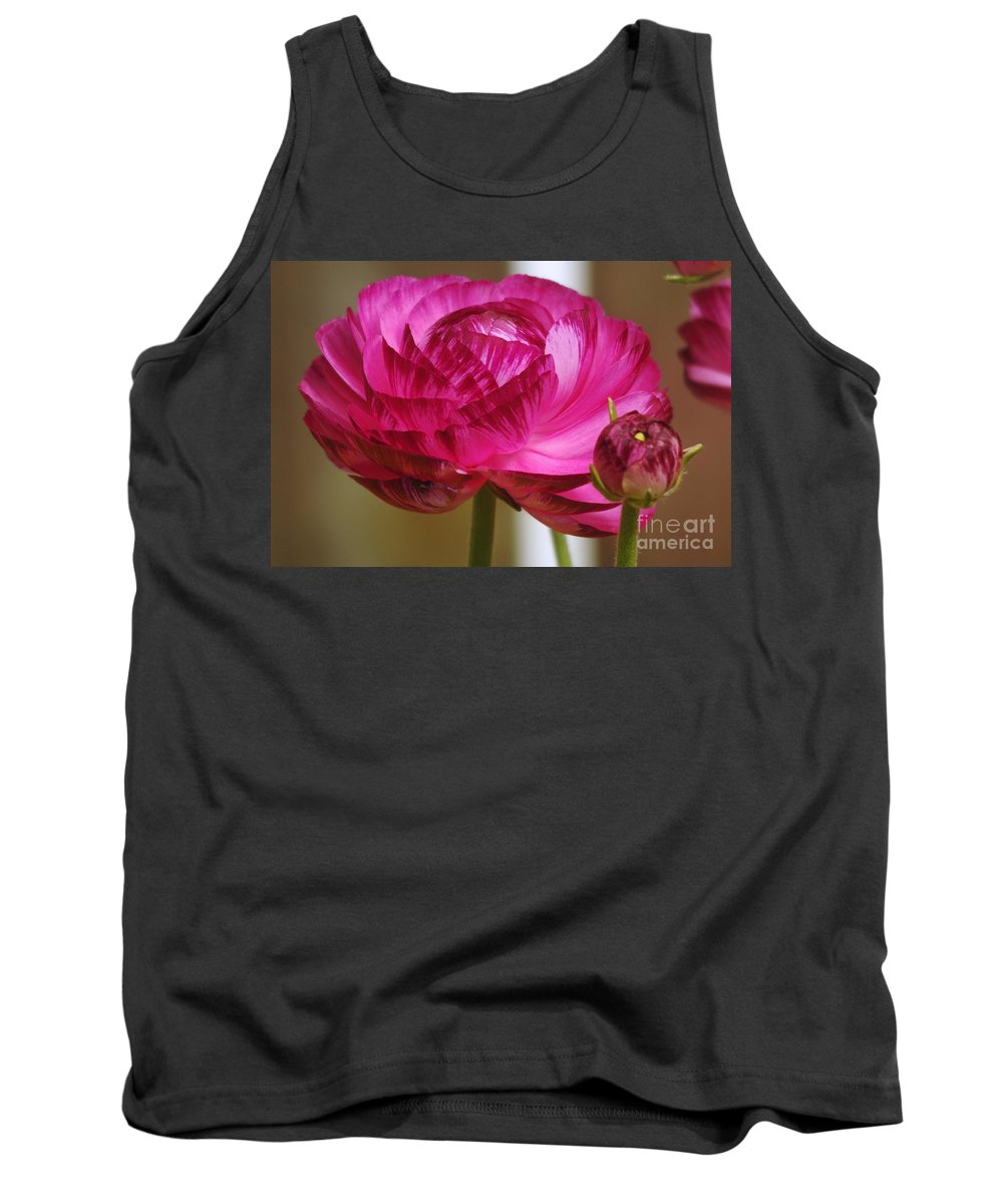 Floral Tank Top featuring the photograph Side View Of A Blossom by Jeff Swan