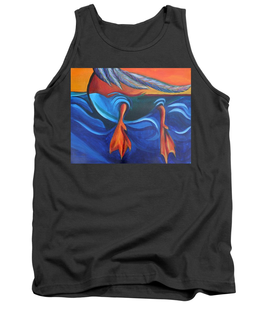 Tank Top featuring the painting Sitting Duck by Kate Fortin