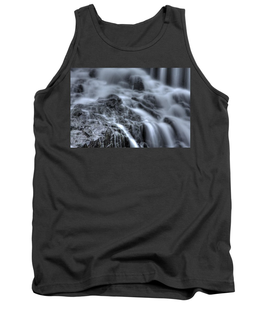 Buttermilk Falls Tank Top featuring the photograph Skull On The Rocks by Jeff Bord
