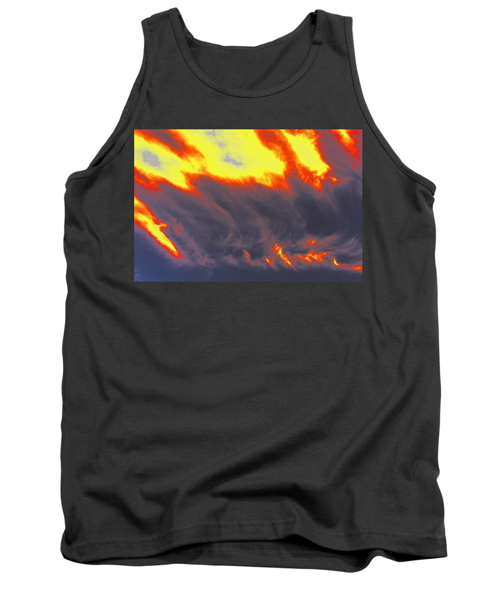 Clouds Tank Top featuring the photograph Sky A Flame by One Rude Dawg Orcutt
