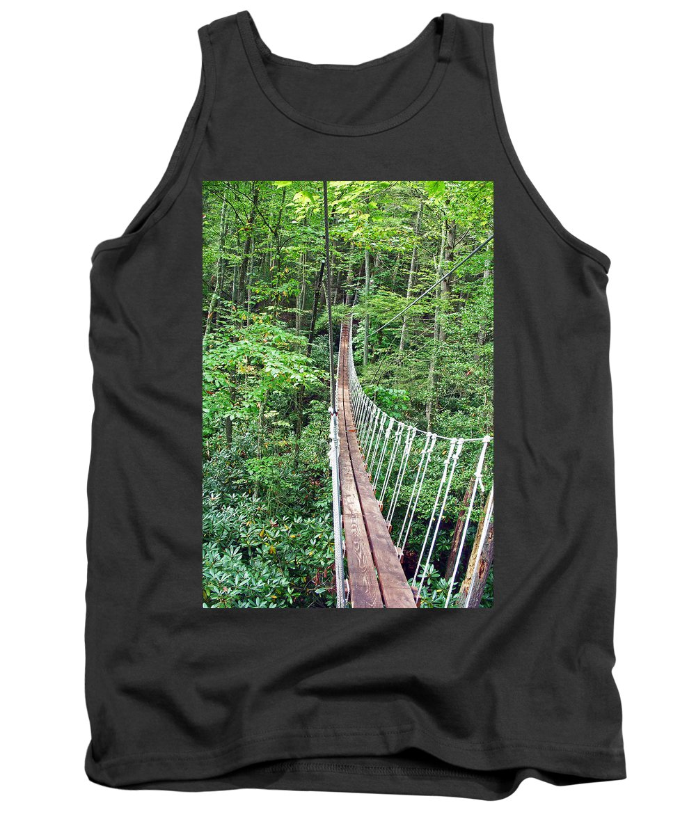 Bridge Tank Top featuring the photograph Sky Bridge 2 by Aimee L Maher ALM GALLERY