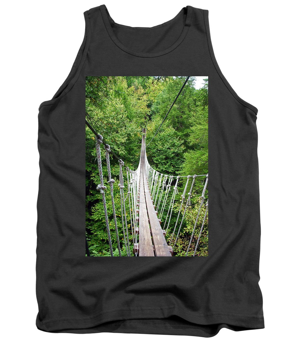 Bridge Bridges Tank Top featuring the photograph Sky Bridge by Aimee L Maher ALM GALLERY