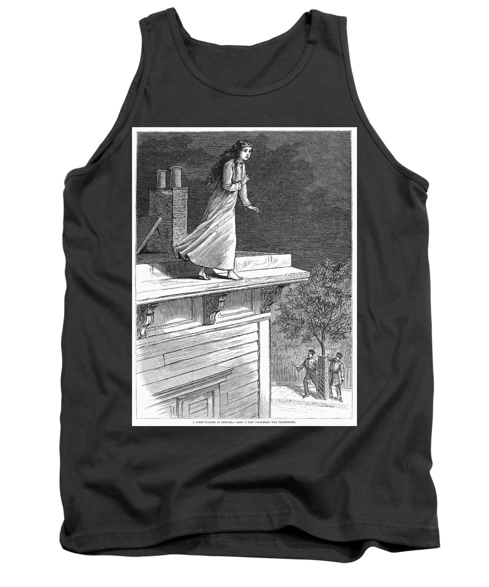1880 Tank Top featuring the photograph Sleepwalking, 1880 by Granger