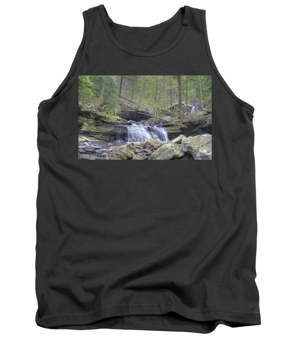Waterfall Tank Top featuring the photograph Small Waterfall by David Troxel